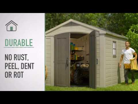 tepro kunststoff gartenhaus factor 8x11 kunststoff taupe 256 5x331cm bei. Black Bedroom Furniture Sets. Home Design Ideas