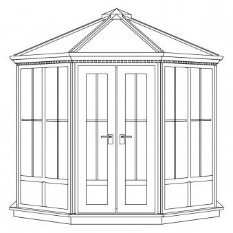 Nordic Pavillon Gozo GOZ-1100-PC Kunststoff weiß / opal 265x265cm Bild 3