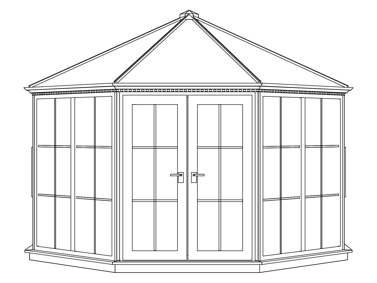 Nordic Pavillon Victoria 1600 Kunststoff weiß / Schiefer 386x386cm Bild 2