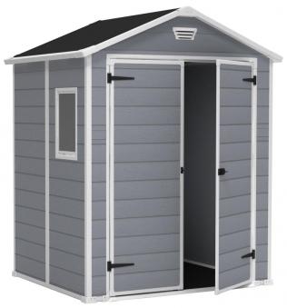 tepro kunststoff ger tehaus manor 6x5 dd grau 185x152cm bei. Black Bedroom Furniture Sets. Home Design Ideas