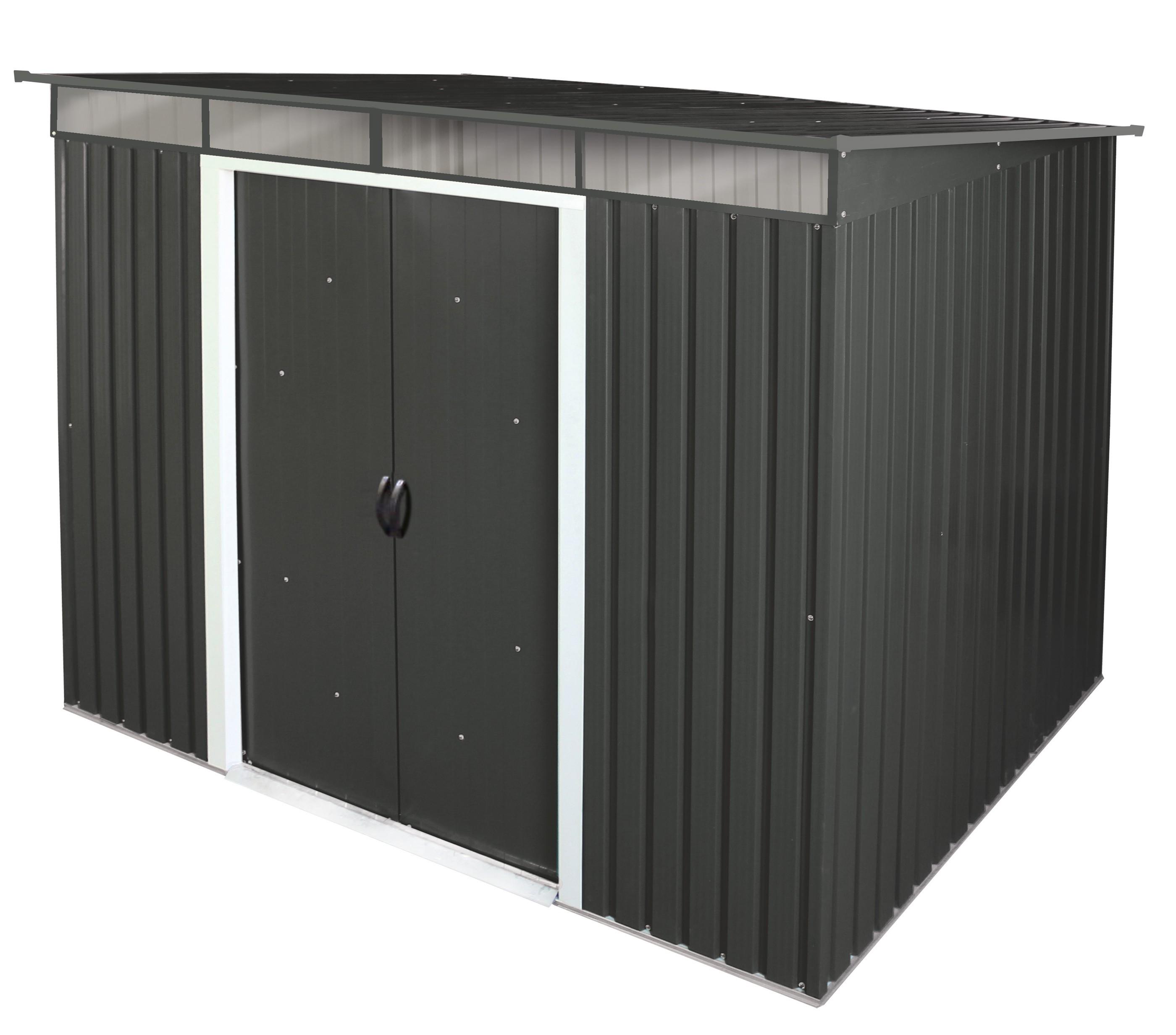 Duramax Gerätehaus Metall Pent Roof Skylight 8x6 anthrazit