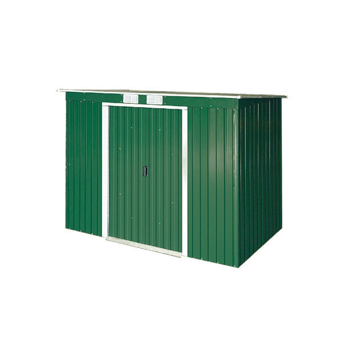 duramax ger tehaus metall pultdach pent roof 8x4 gr n. Black Bedroom Furniture Sets. Home Design Ideas