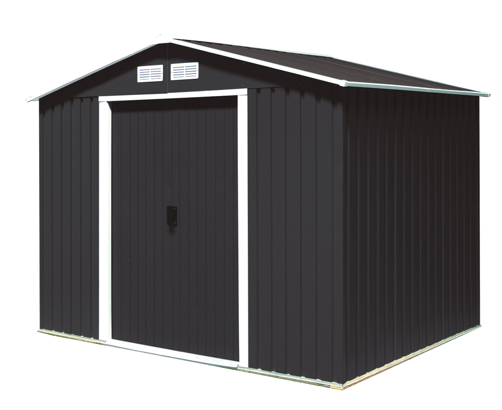 duramax ger tehaus metall titan 8x6 anthrazit 261 2x182 2cm bei. Black Bedroom Furniture Sets. Home Design Ideas