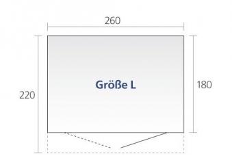 Gerätehaus Biohort AvantGarde Gr. L dunkelgrau-metallic 260x220cm Bild 2