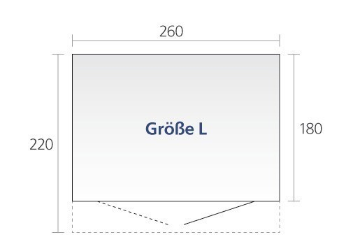 Gerätehaus Biohort AvantGarde Gr. L silber-metallic DT 260x220cm Bild 2