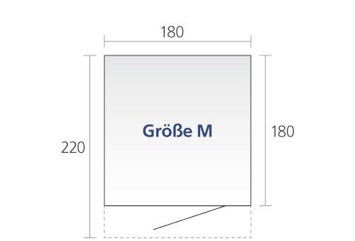 Gerätehaus Biohort AvantGarde Gr. M dunkelgrau-metallic 180x220cm Bild 2
