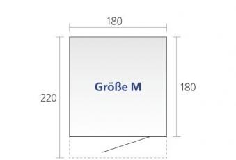 Gerätehaus Biohort AvantGarde Gr. M silber-metallic 180x220cm Bild 2