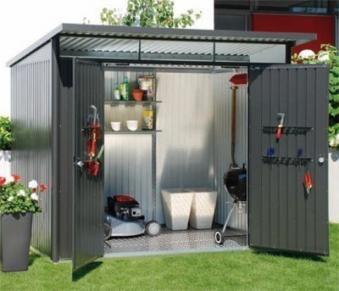 Gerätehaus Biohort AvantGarde Gr. XL dunkelgrau-metallic 260x300cm Bild 2