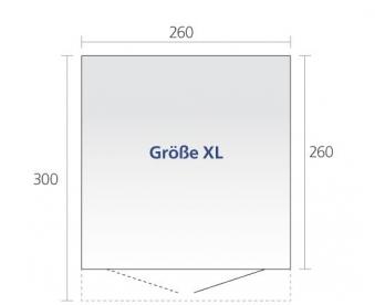 Gerätehaus Biohort AvantGarde Gr. XL dunkelgrau-metallic 260x300cm Bild 3