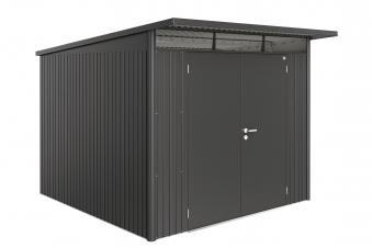 Gerätehaus Biohort AvantGarde Gr. XL dunkelgrau-metallic DT 260x300cm Bild 1