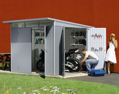Gerätehaus Biohort AvantGarde Gr. XL silber-metallic 260x300cm Bild 3
