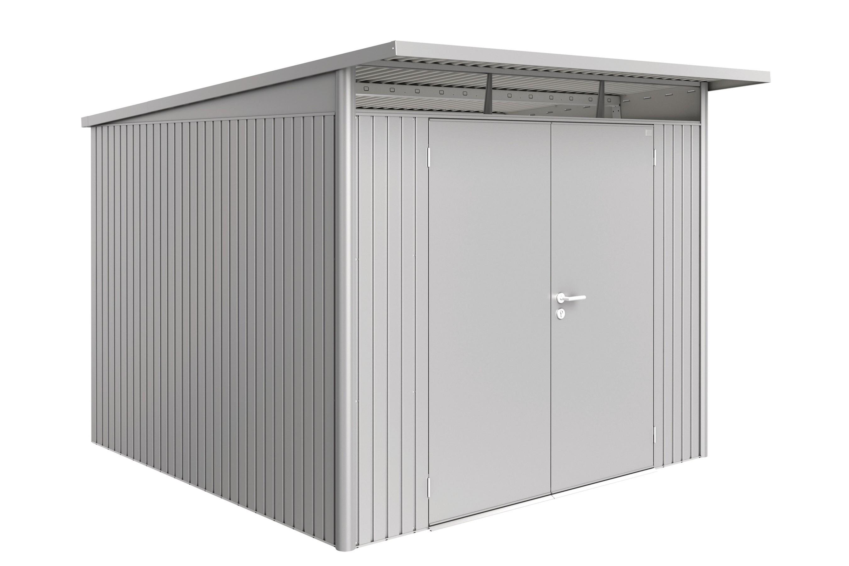 Gerätehaus Biohort AvantGarde Gr. XL silber-metallic DT 260x300cm Bild 1
