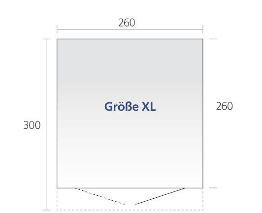 Gerätehaus Biohort AvantGarde Gr. XL silber-metallic DT 260x300cm Bild 2