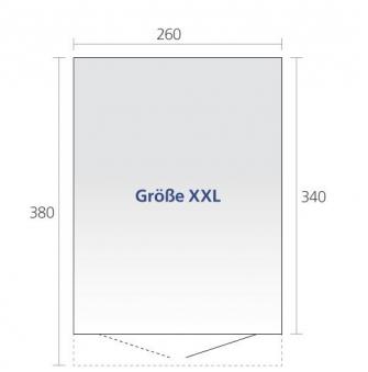 Gerätehaus Biohort AvantGarde Gr. XXL silber-metallic 260x380cm Bild 2