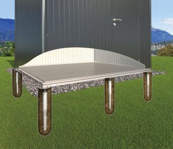 Erdschrauben Fundament für Biohort Gartenhaus AvantGarde XXL
