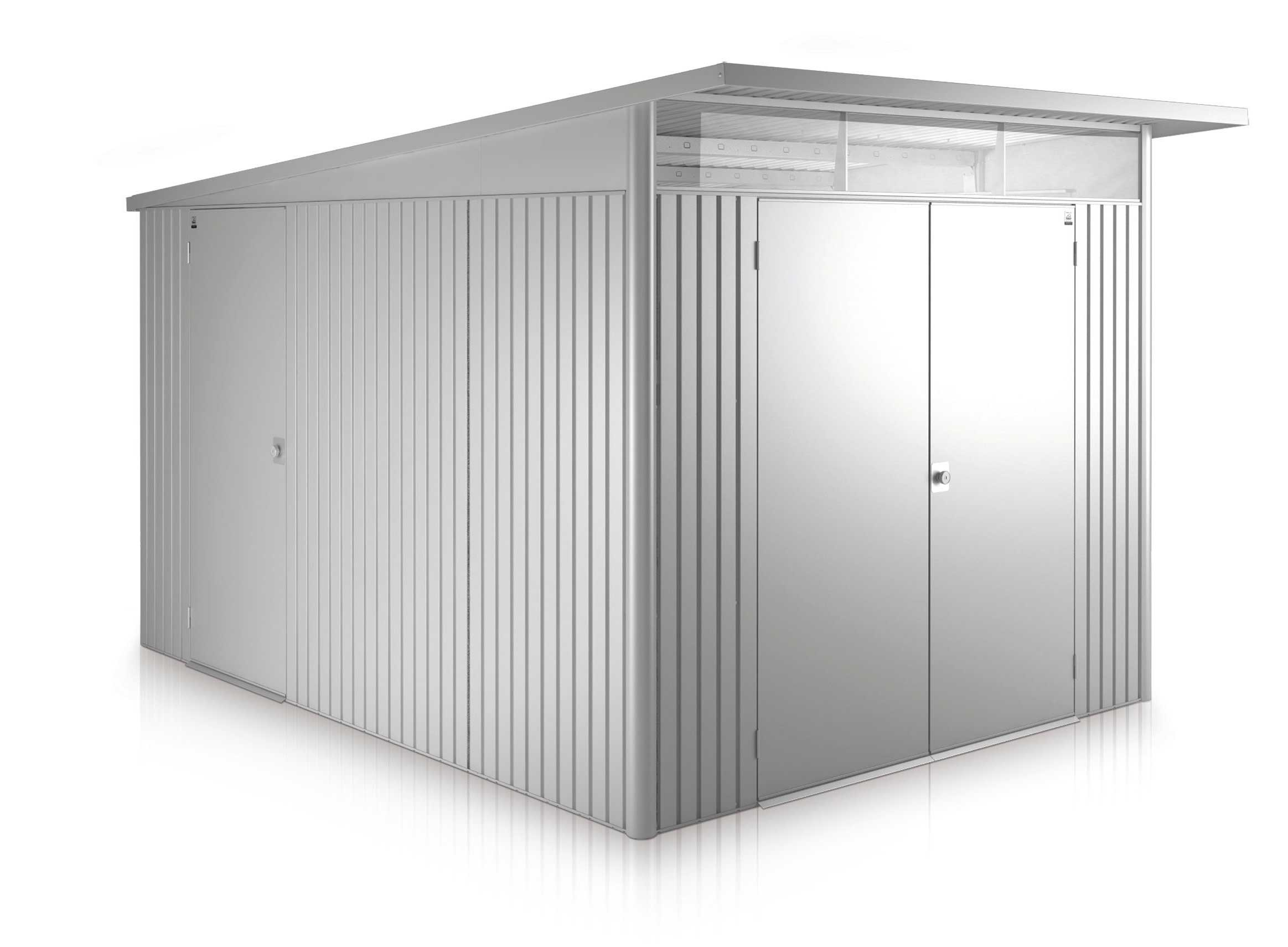 Gerätehaus Biohort AvantGarde Gr. XXL silber-metallic DT 260x380cm Bild 1