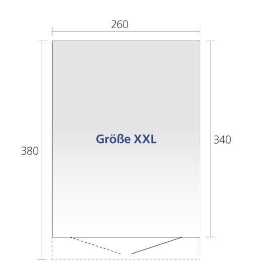 Gerätehaus Biohort AvantGarde Gr. XXL silber-metallic DT 260x380cm Bild 2