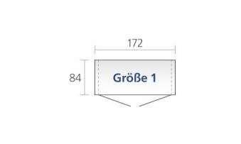 Gerätehaus Biohort Europa Gr. 1 dunkelgrün 172x84cm Bild 3
