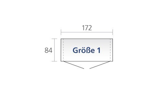 Gerätehaus Biohort Europa Gr. 1 silber-metallic 172x84cm Bild 2