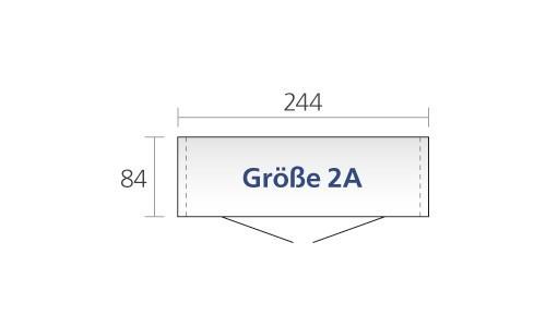 Gerätehaus Biohort Europa Gr. 2a silber-metallic 244x84cm Bild 2