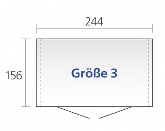 Gerätehaus Biohort Europa Gr. 3 silber-metallic 244x156cm Bild 2