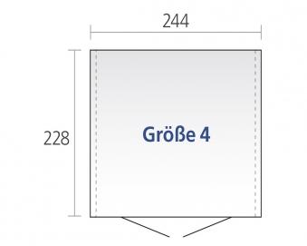 Gerätehaus Biohort Europa Gr. 4 dunkelgrau-metallic 244x228cm Bild 2