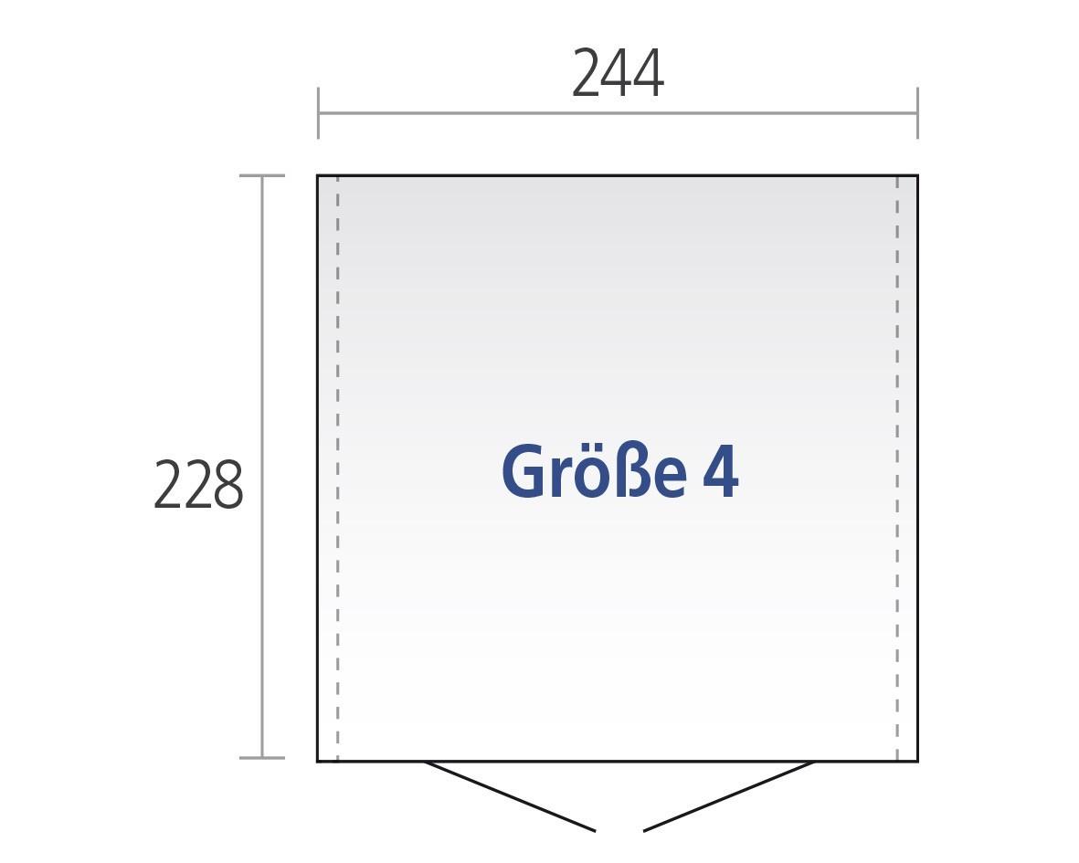 Gerätehaus Biohort Europa Gr. 4 silber-metallic 244x228cm Bild 2