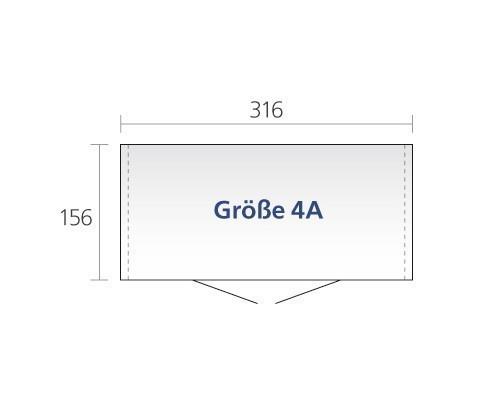 Gerätehaus Biohort Europa Gr. 4a silber-metallic 316x156cm Bild 2