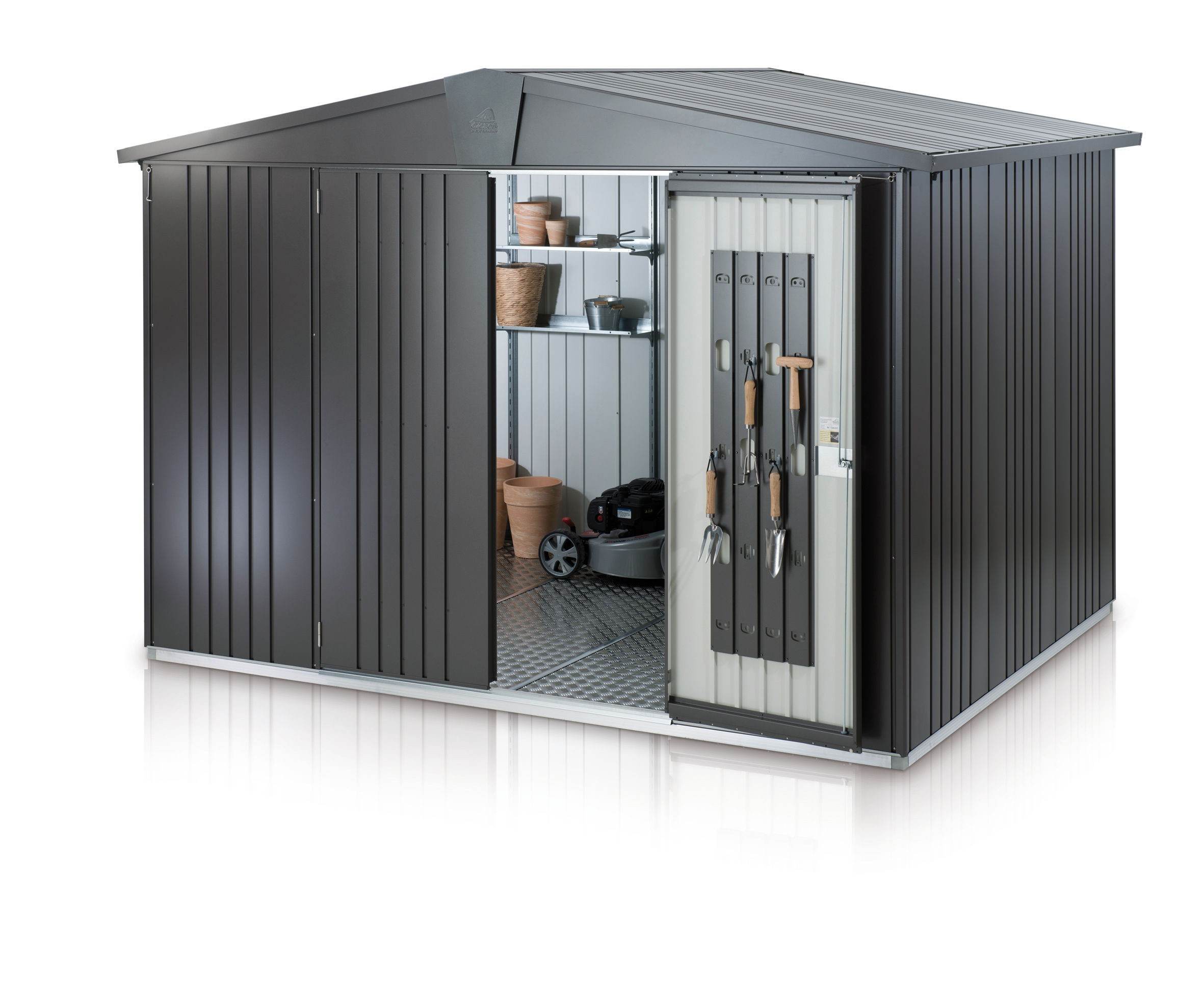 ger tehaus biohort europa gr 5 dunkelgrau metallic 316x228x209 bei. Black Bedroom Furniture Sets. Home Design Ideas