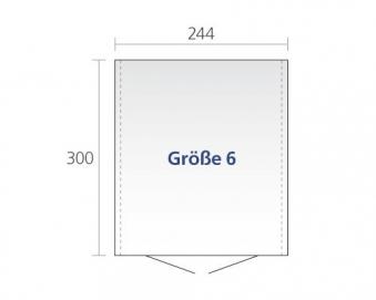 Gerätehaus Biohort Europa Gr. 6 silber-metallic 244x300cm Bild 2