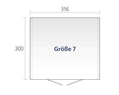 Gerätehaus Biohort Europa Gr. 7 silber-metallic 316x300cm Bild 2