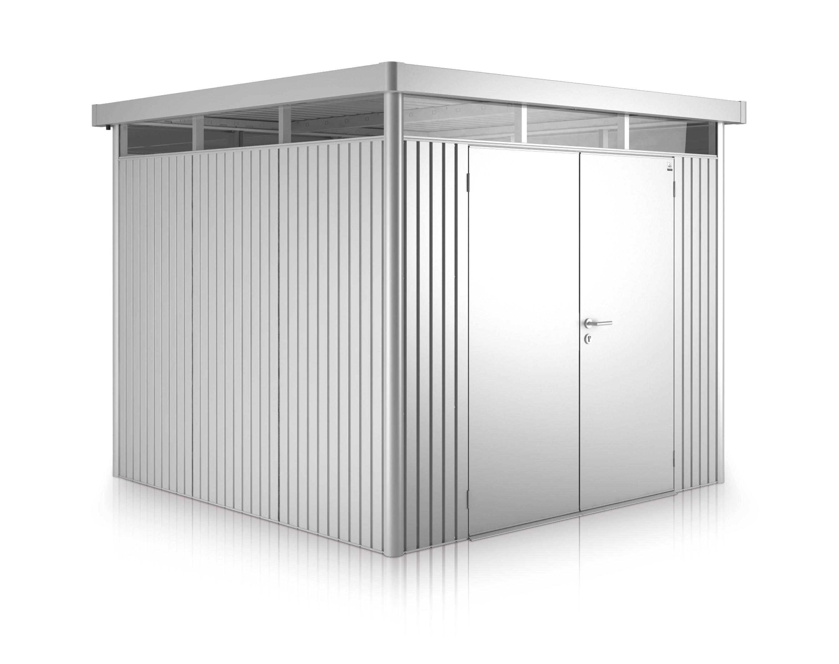 Gerätehaus Biohort HighLine H2 silber-metallic DT 275x195cm Bild 1