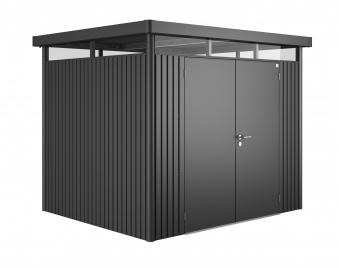 Gerätehaus Biohort HighLine H3 dunkelgrau-metallic DT 275x235cm Bild 1