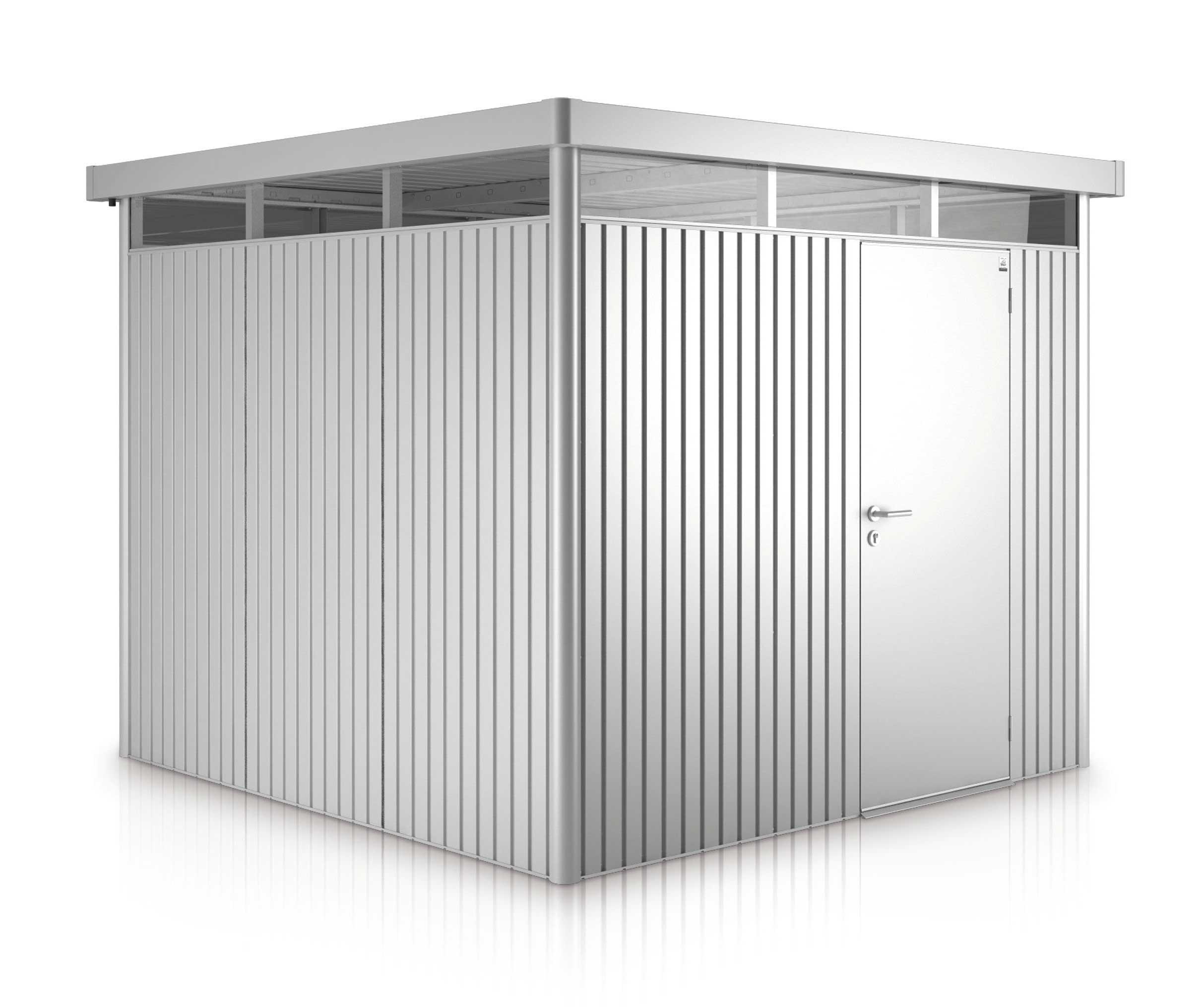 Gerätehaus Biohort HighLine H4 silber-metallic 275x275cm Bild 1