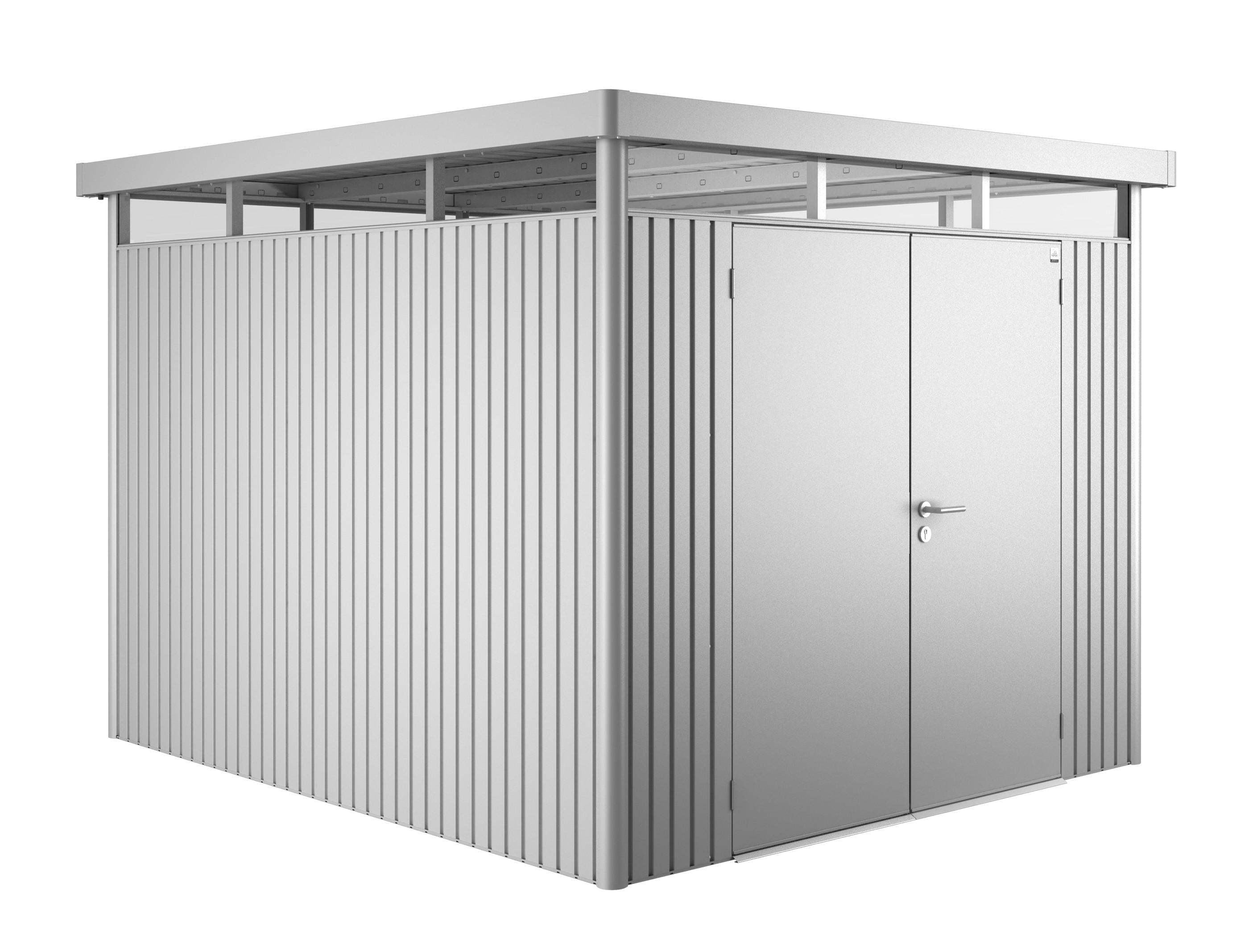 Gerätehaus Biohort HighLine H5 silber-metallic DT 275x315cm Bild 1