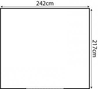 Yardmaster Metallgerätehaus Bayern 87 dunkelgrün 242x217cm Bild 2