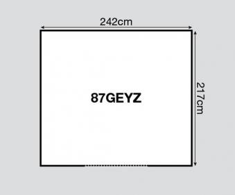 Yardmaster Metallgerätehaus Bayern 87 grün 242x217cm Bodenrahmen Bild 2