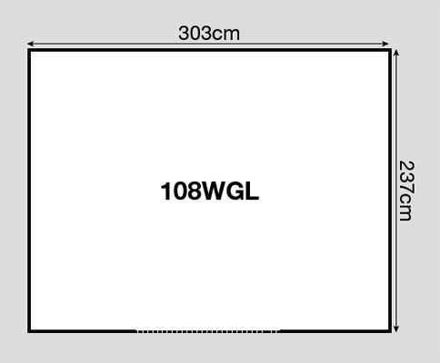 Yardmaster Metallgerätehaus Konstanz 108 braun 303x237cm Bodenrahmen Bild 2