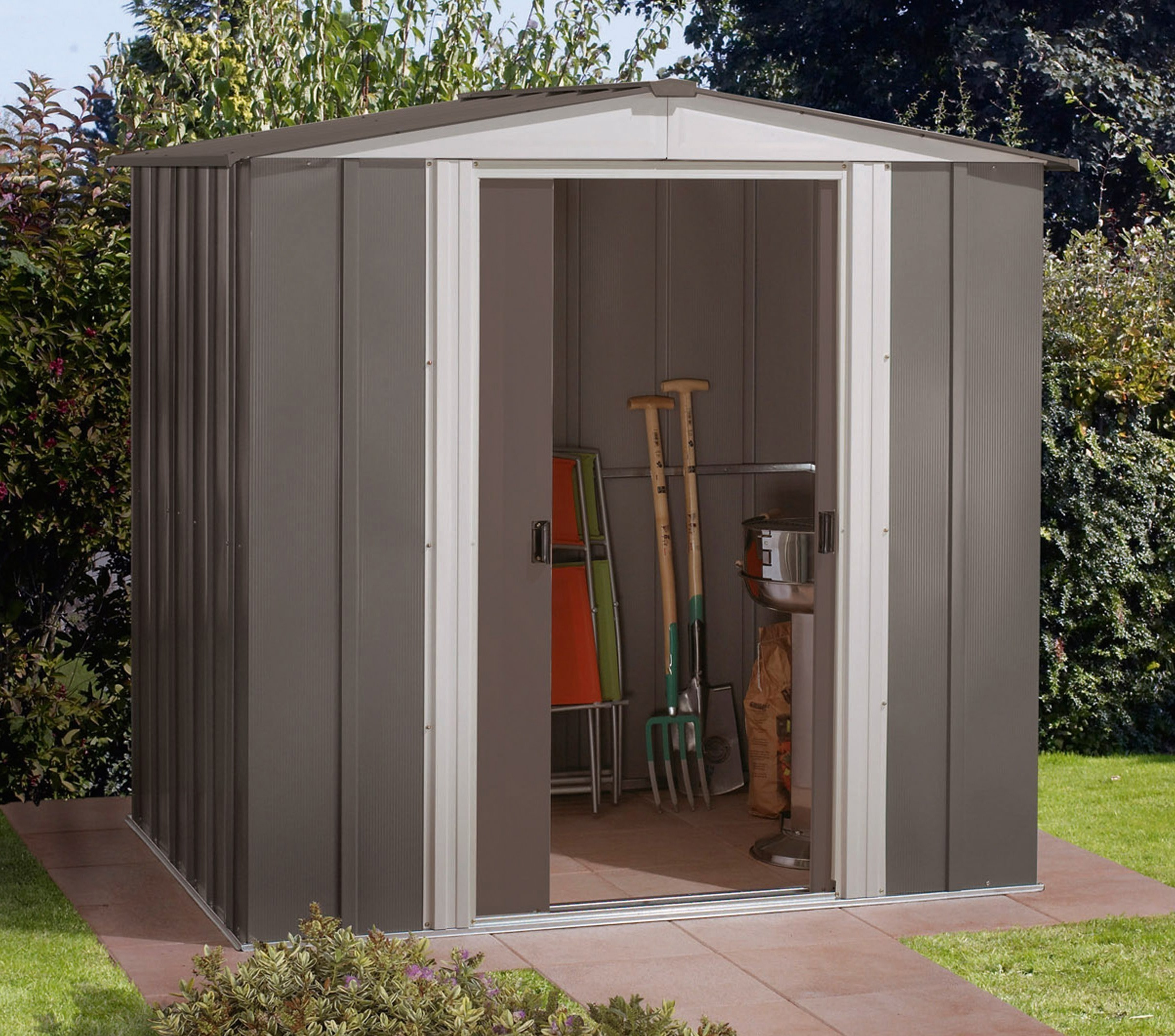 arrow metall ger tehaus dresden 65 grau 194x151cm bei. Black Bedroom Furniture Sets. Home Design Ideas