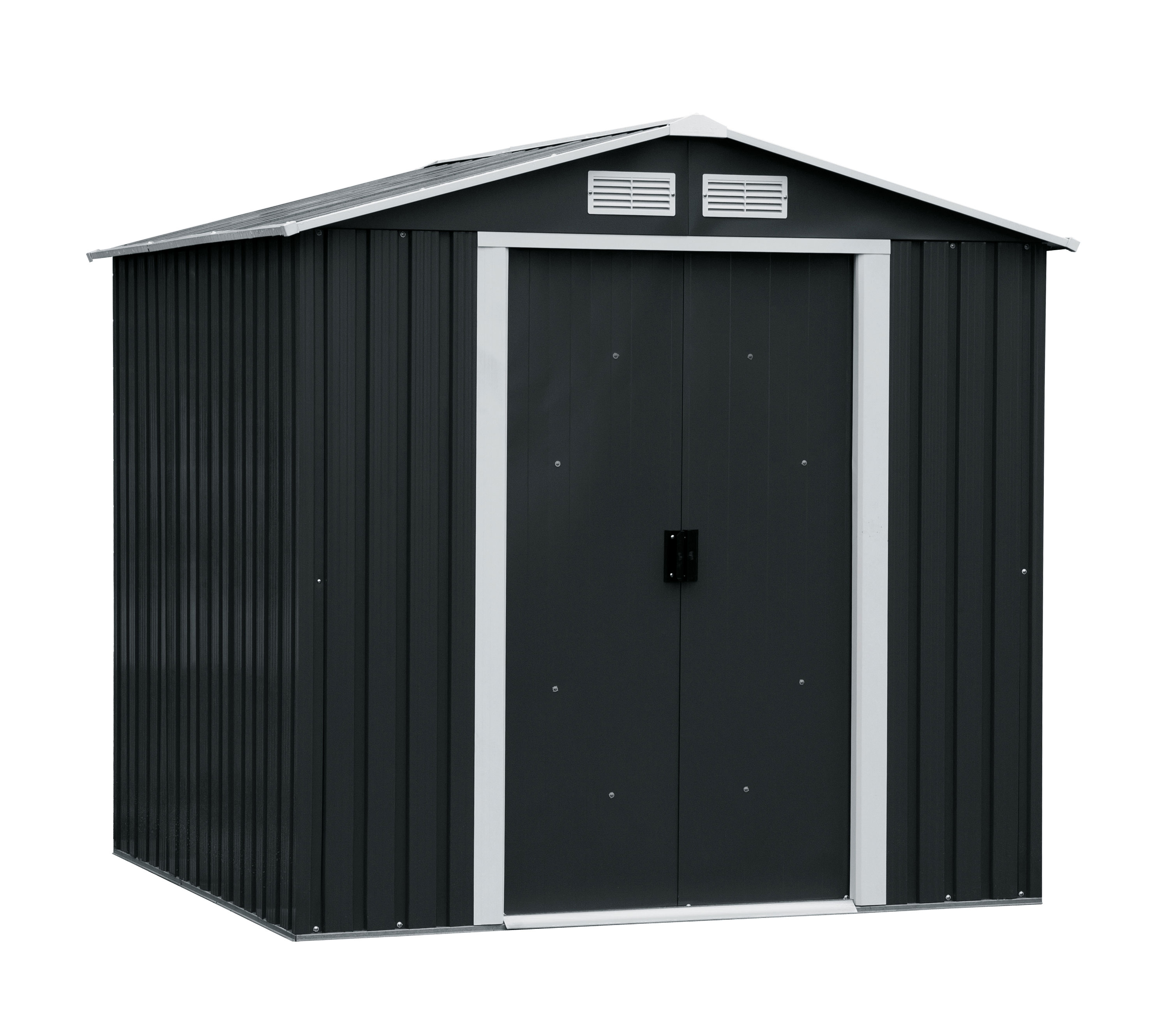 duramax ger tehaus metall riverton 6x4 anthrazit 201x122. Black Bedroom Furniture Sets. Home Design Ideas