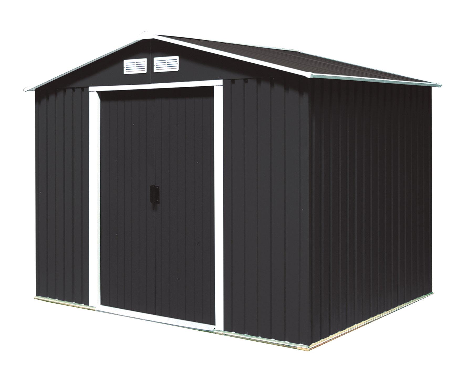 duramax ger tehaus metall titan 8x6 anthrazit 261 2x182. Black Bedroom Furniture Sets. Home Design Ideas