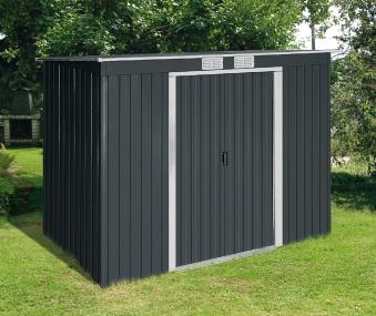 duramax ger tehaus metall pultdach pent roof 8x4 anthrazit. Black Bedroom Furniture Sets. Home Design Ideas