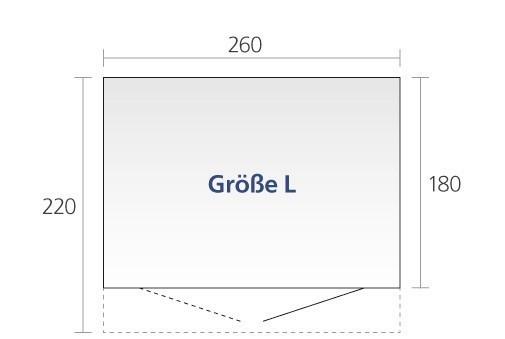 Relativ Gerätehaus BioHort AvantGarde Gr. L dunkelgrau-metallic DT  DJ27