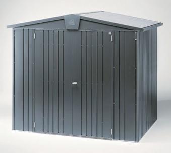 ger tehaus biohort europa gr 4a dunkelgrau metallic 316x156x209 bei. Black Bedroom Furniture Sets. Home Design Ideas