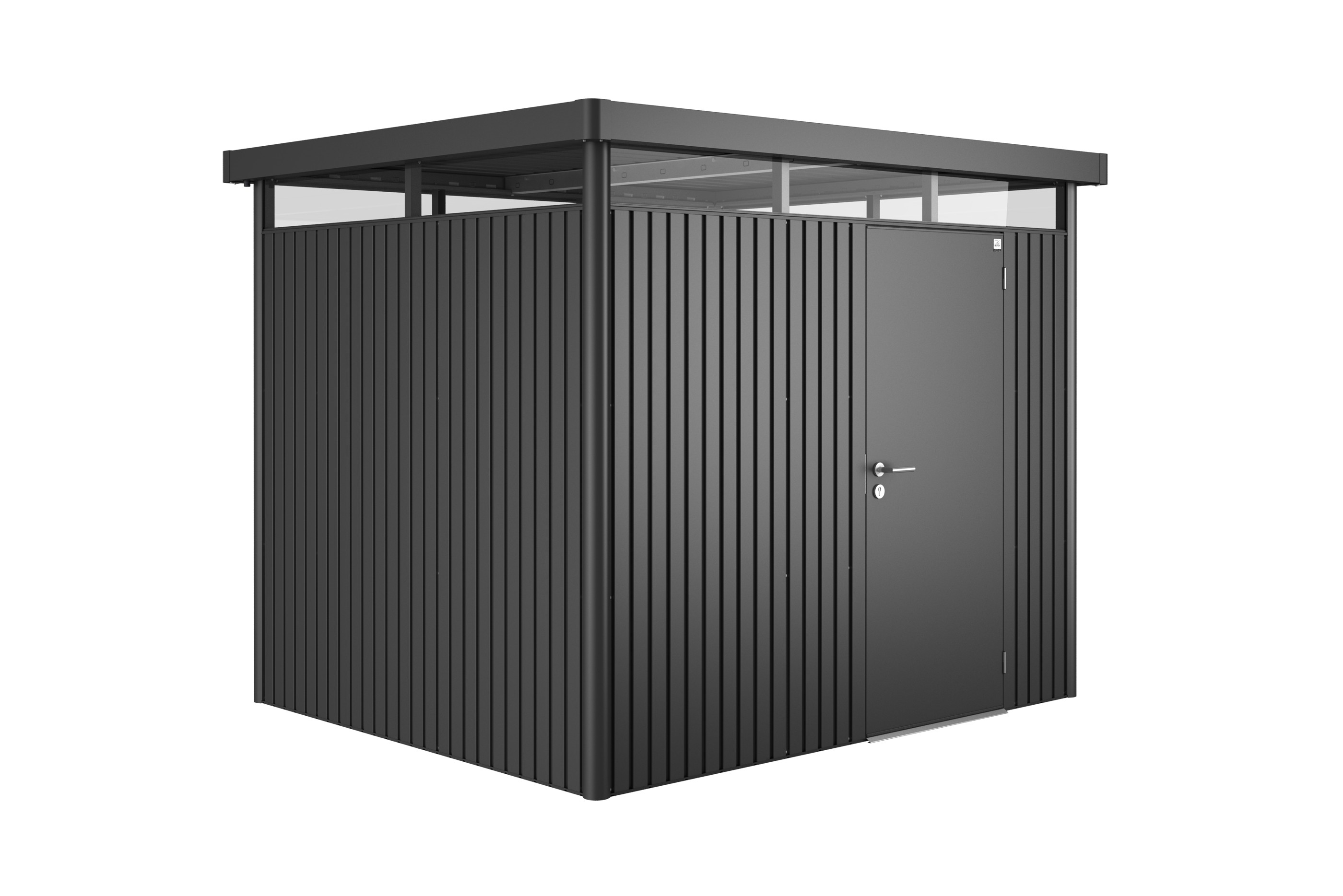 ger tehaus biohort highline h3 dunkelgrau metallic 275x235x222cm bei. Black Bedroom Furniture Sets. Home Design Ideas