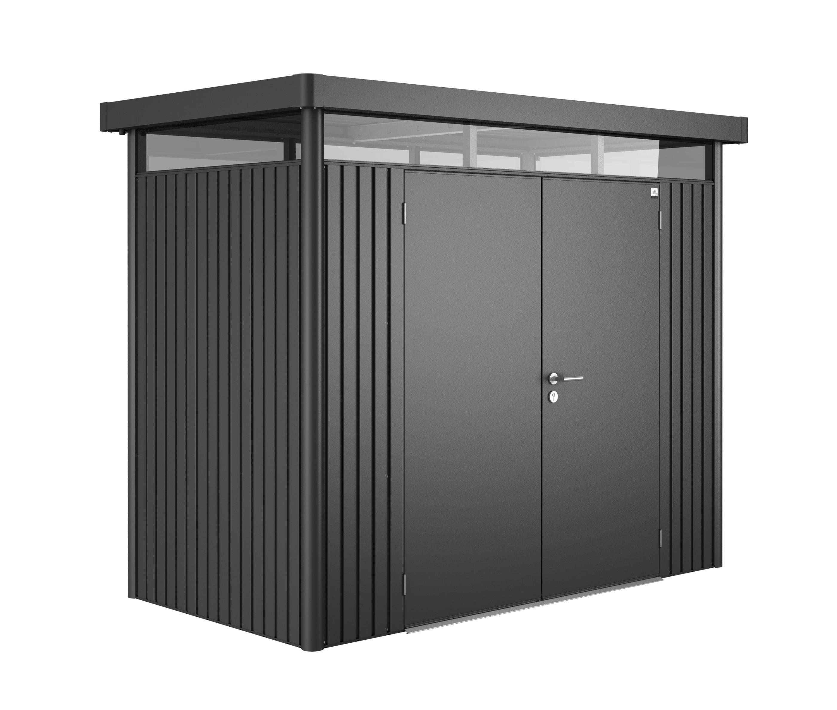 ger tehaus biohort highline h1 dunkelgrau metallic dt 275x155x222cm bei. Black Bedroom Furniture Sets. Home Design Ideas