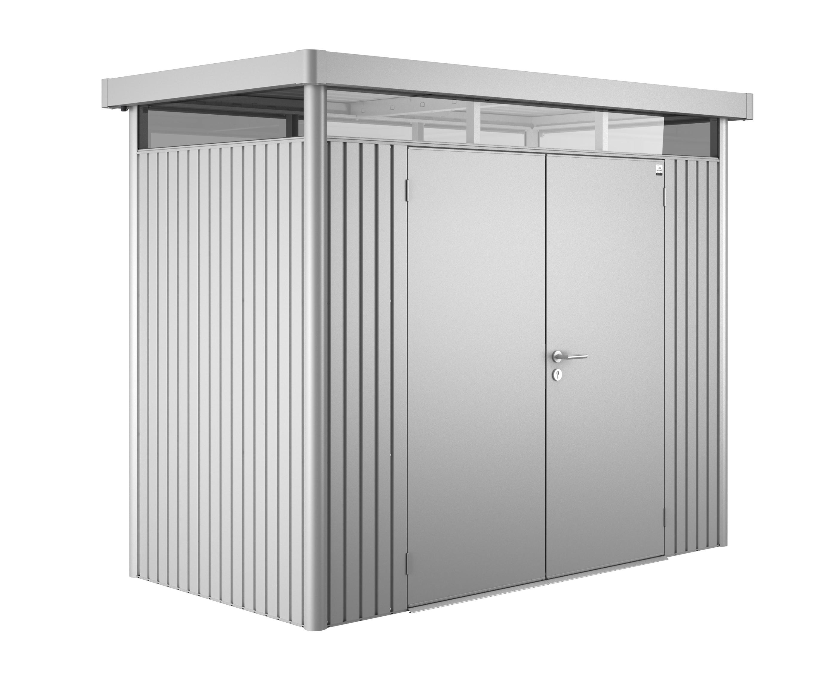 ger tehaus biohort highline h1 silber metallic dt 275x155x222cm bei. Black Bedroom Furniture Sets. Home Design Ideas