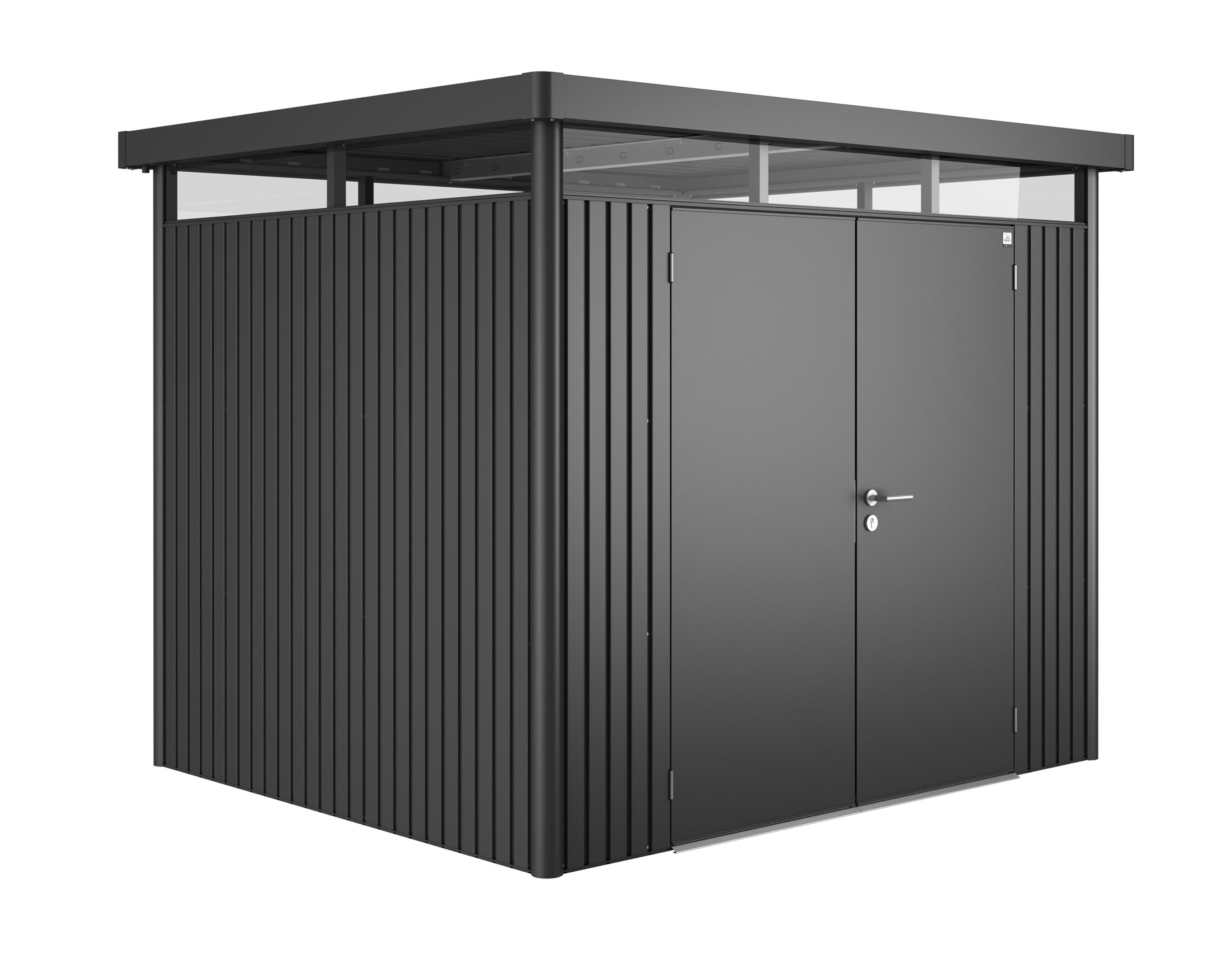 ger tehaus biohort highline h3 dunkelgrau metallic dt 275x235x222cm bei. Black Bedroom Furniture Sets. Home Design Ideas