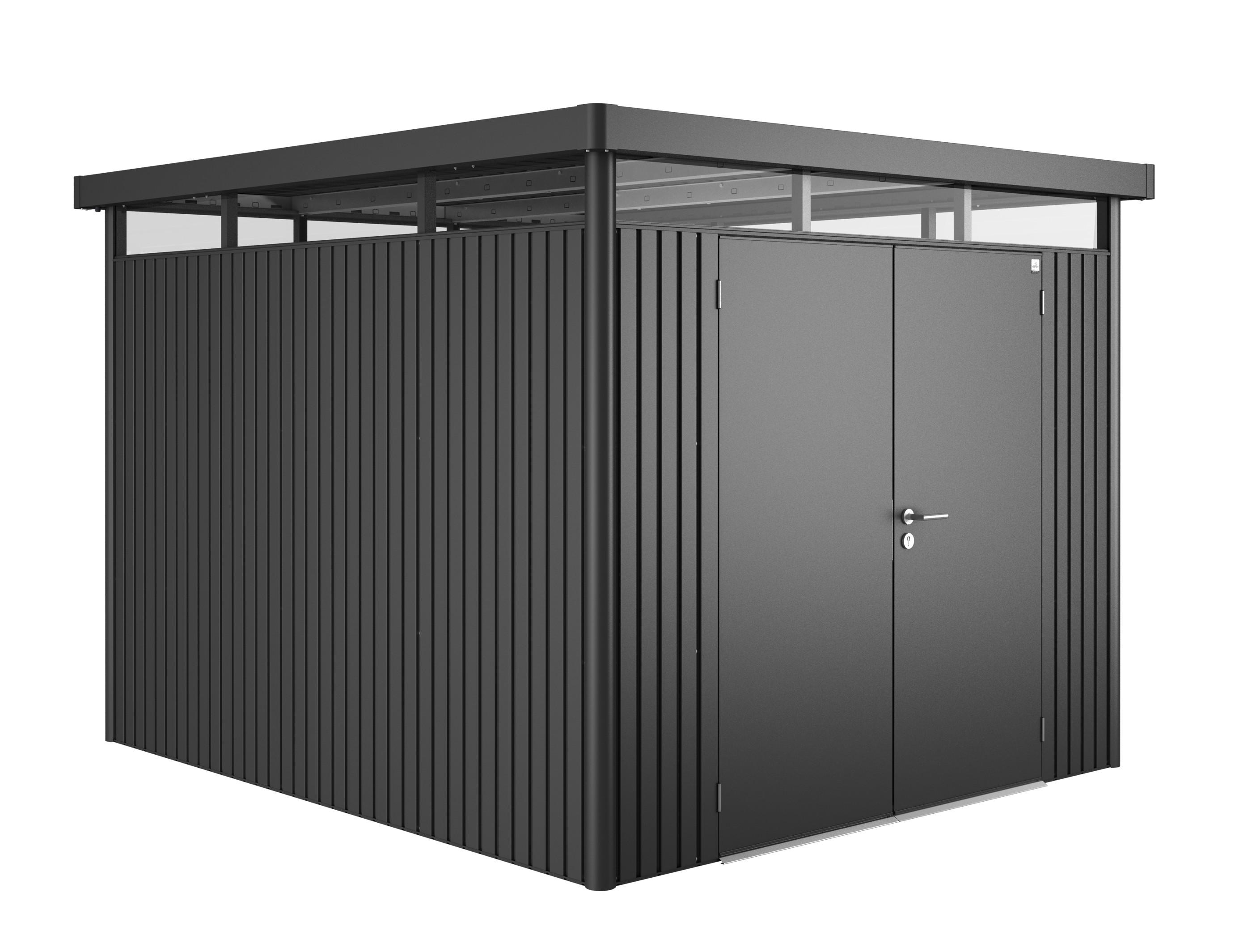 ger tehaus biohort highline h5 dunkelgrau metallic dt 275x315x222 bei. Black Bedroom Furniture Sets. Home Design Ideas