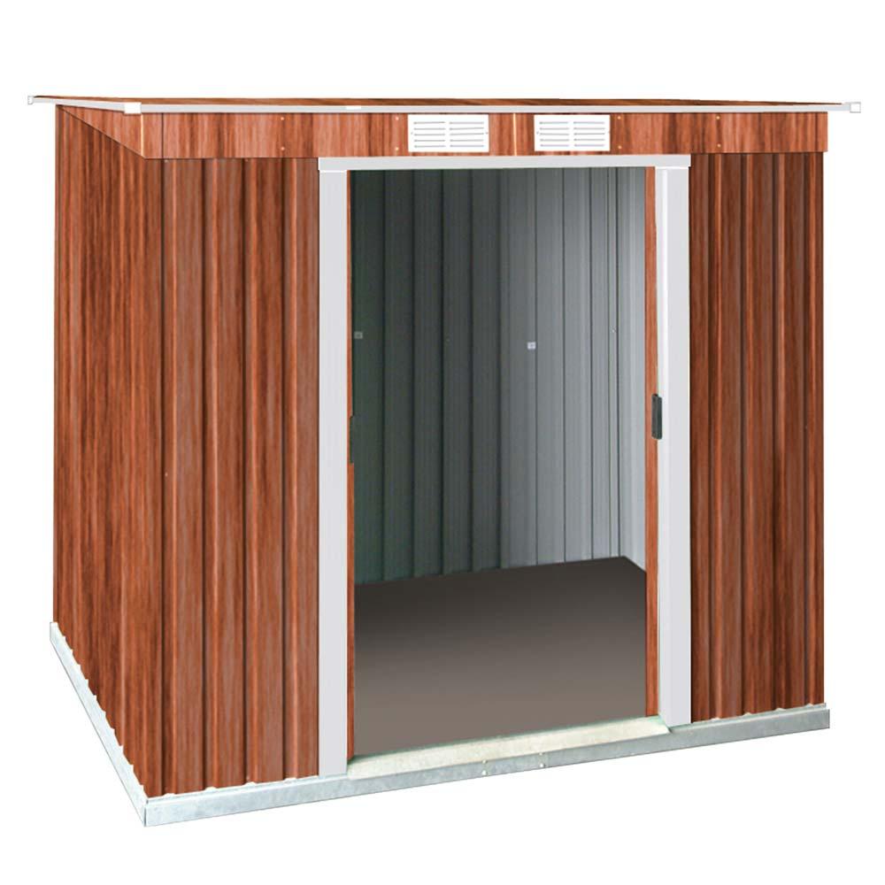 Gartenhaus 24 Qm Selber Bauen Gartenhaus Hersteller 24 De: Tepro Gerätehaus Metall Pent Roof 6x4 Unterkonstr